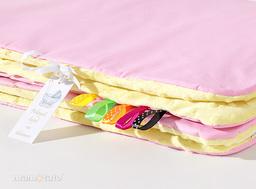 MAMO-TATO Kocyk Minky dla niemowląt i dzieci 75x100 Róż / żółty