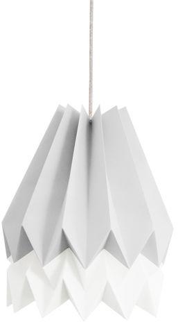 Lampa wisząca Stripe Light Grey/Polar White Orikomi szaro-biała oprawa w dekoracyjnym stylu