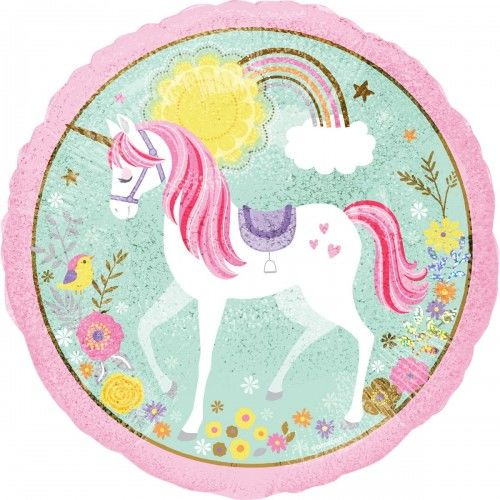 Balon foliowy Magical Unicorn, holograficzny