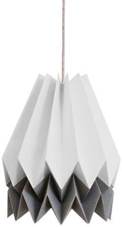Lampa wisząca Stripe Light Grey/Alpine Grey Orikomi szara oprawa w dekoracyjnym stylu