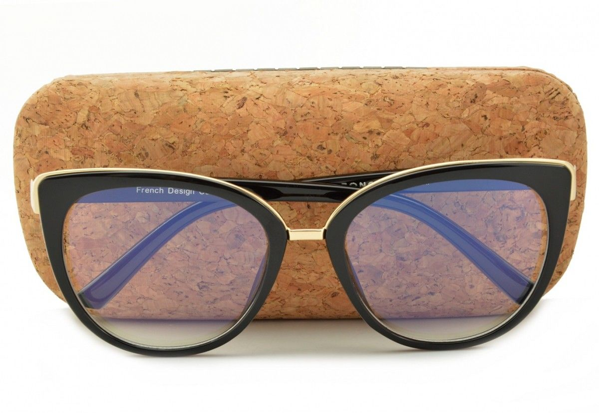 Okulary Kocie Oczy z filtrem światła niebieskiego do komputera zerówki POL-BLF-818K