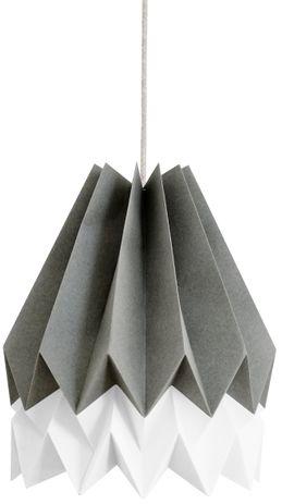 Lampa wisząca Stripe Alpine Grey/Polar White Orikomi szaro-biała oprawa w dekoracyjnym stylu