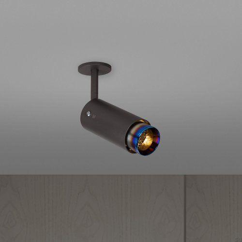 Lampa Exhaust Spot Grafitowa z paloną stalą