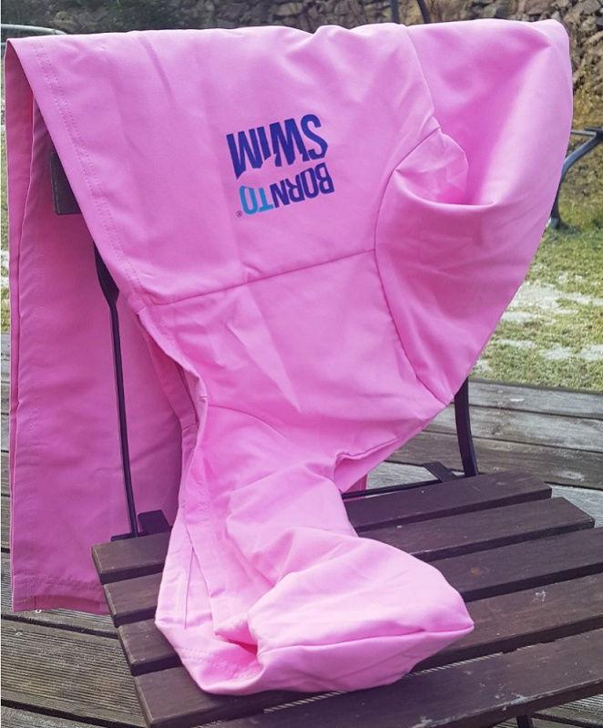 Borntoswim bathrobe kids pink