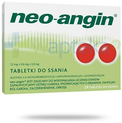 Neo-Angin 24 tabletki