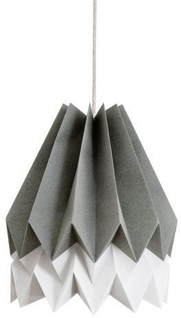 Lampa wisząca Stripe Alpine Grey/Light Grey Orikomi szara oprawa w dekoracyjnym stylu