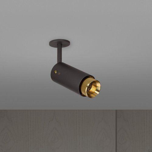 Lampa Exhaust Spot Grafitowa z mosiądzem