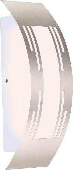 Globo kinkiet lampa ścienna Cornus 320940 stal nierdzewna, tworzywo sztuczne opalizowane IP44