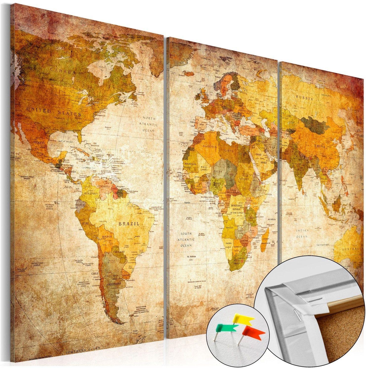 Obraz na korku - antyczne podróże [mapa korkowa]