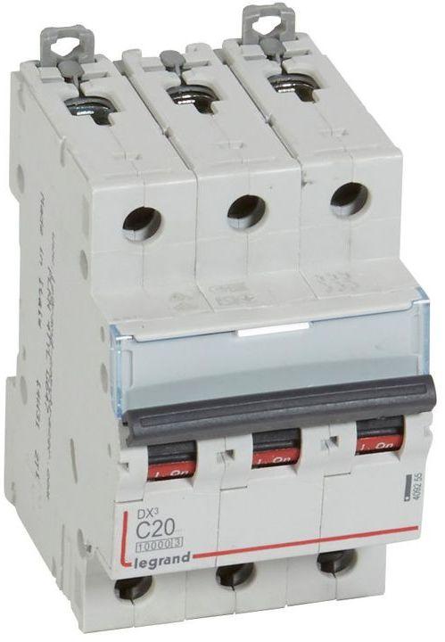 Wyłącznik nadprądowy 3P C 20A 10kA S313 DX3 409255