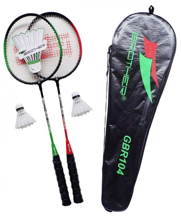Zestaw do badmintona: 2 rakiety + 2 lotki + pokrowiec
