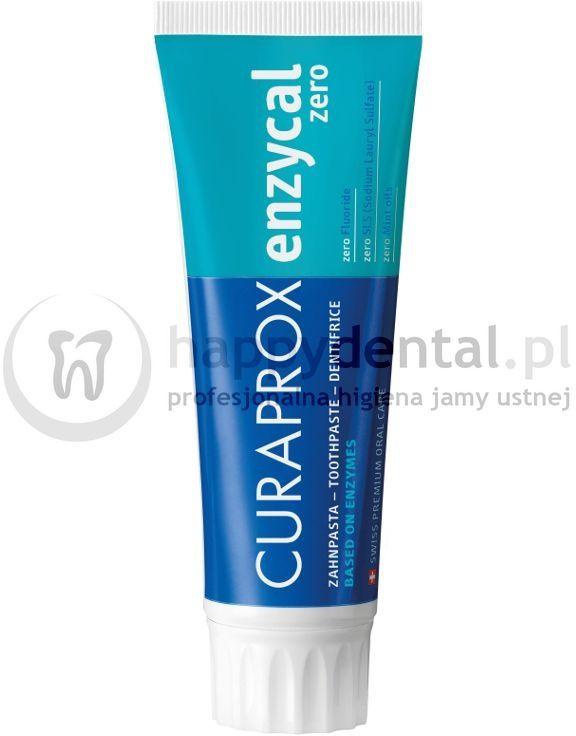 CURAPROX Enzycal ZERO 75ml - delikatna, profilaktyczna pasta do zębów bez fluoru