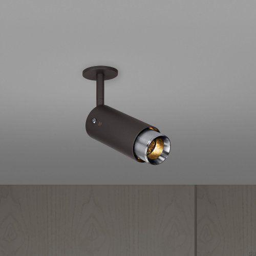 Lampa Exhaust Spot Grafitowa ze stalą