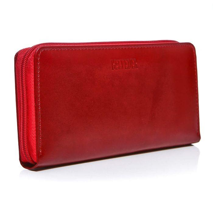 Portfel damski kopertówka etui czerwony BW57