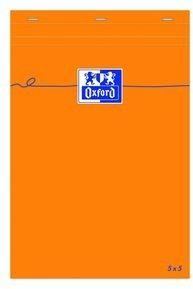 Blok notatnikowy Oxford Everyday A6 w kratkę - pomarańczowy