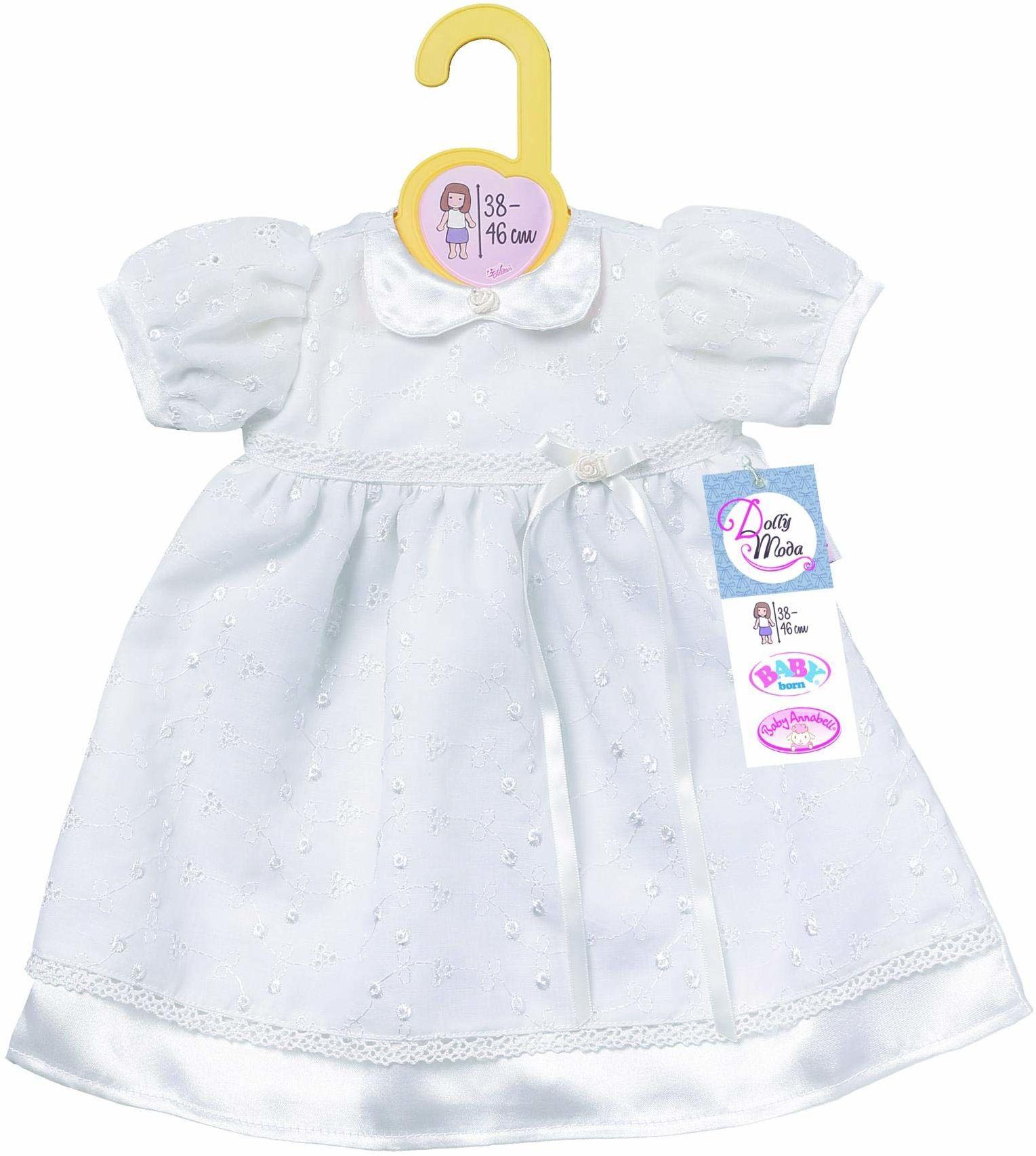 Zapf Creation 870341 Dolly Fashion szlafrok do chrztu dla lalek 38-46 cm