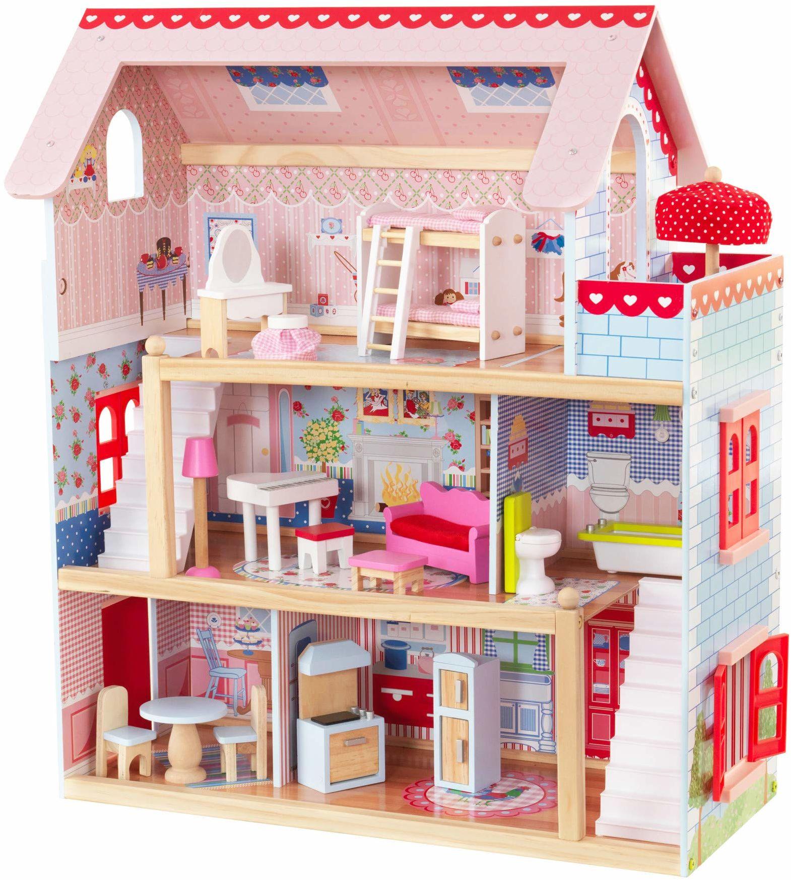 zamek; dzieci; domki; barbyhaus; lalki; światło; duże; dziewczynki; pupenhaus; domkiem; siła; drewniane; dziecięce; lalkowy; kidcraft; domek; barbiehaus; drewniany; lalek; pupen