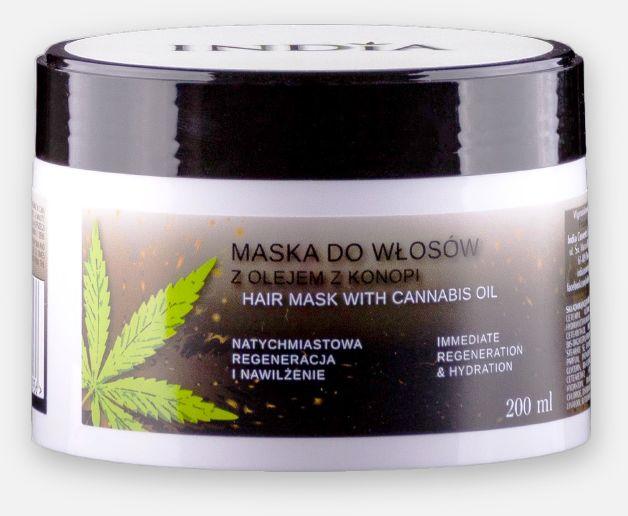 India maska do włosów odżywka z olejem konopnym 200ml
