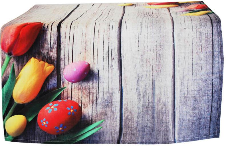 Bieżnik Poliestrowy Wielkanoc Tulipany 2