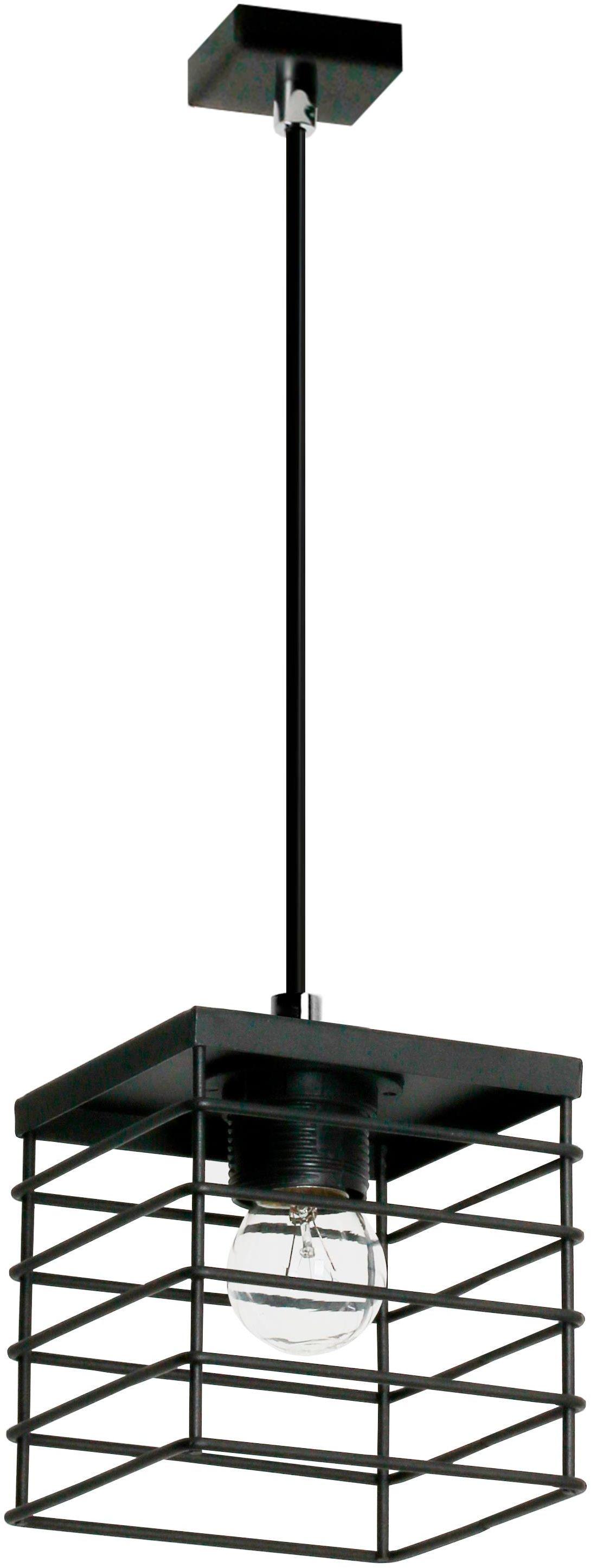 Lampex Verox 1 894/1 lampa wisząca czarna metalowy klosz E27 1x 60W 12cm