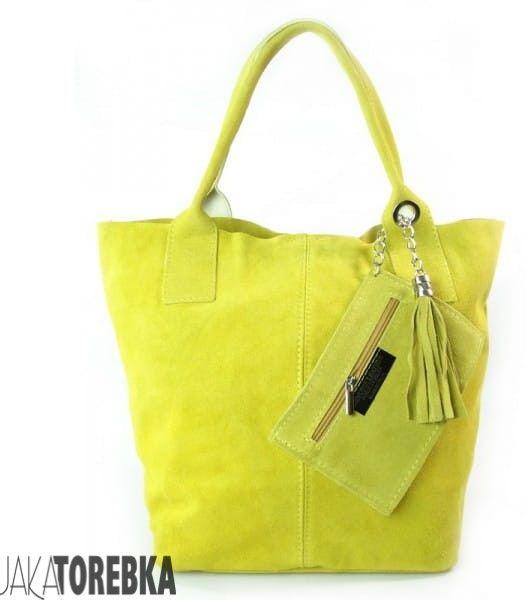 Torba A4 zamsz naturalny Yellow