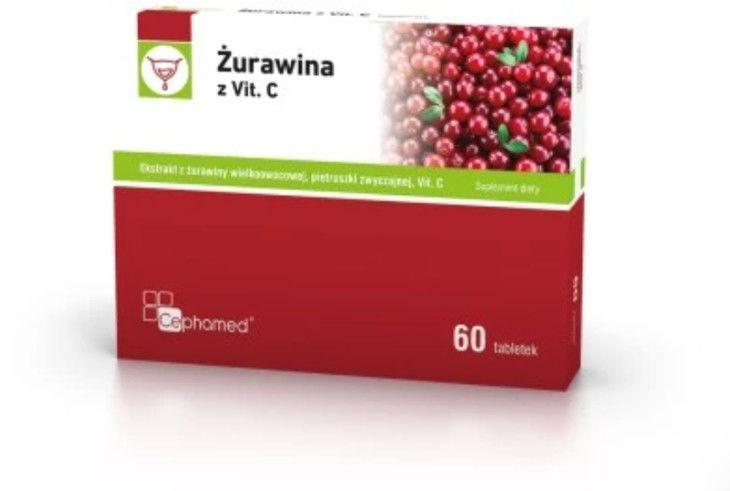 Żurawina z witaminą C 60 tabletek