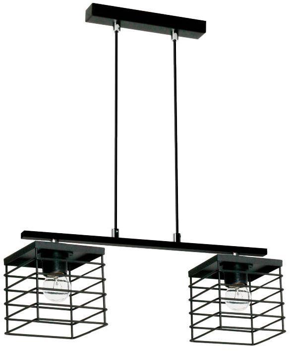 Lampex Verox 2 894/2 lampa wisząca czarna metalowy klosz E27 2x 60W 43cm