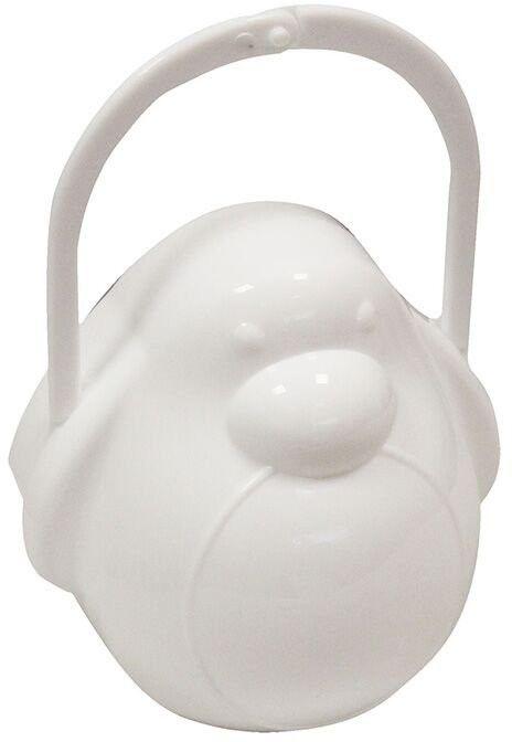 Poupy - Pojemnik na Smoczek Pingwin, Biały, 0m+