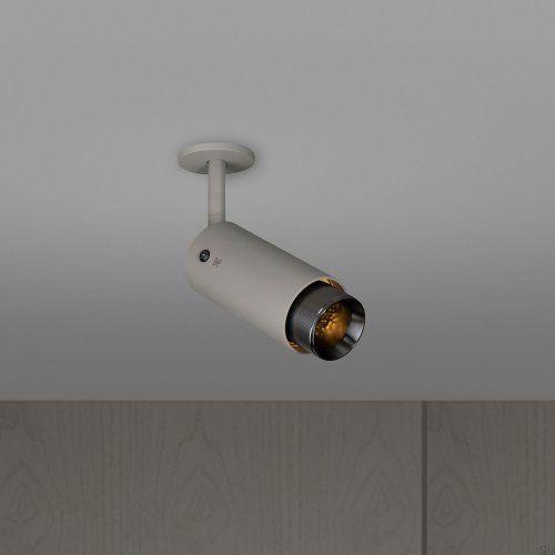 Lampa Exhaust Spot Szara z gun metal