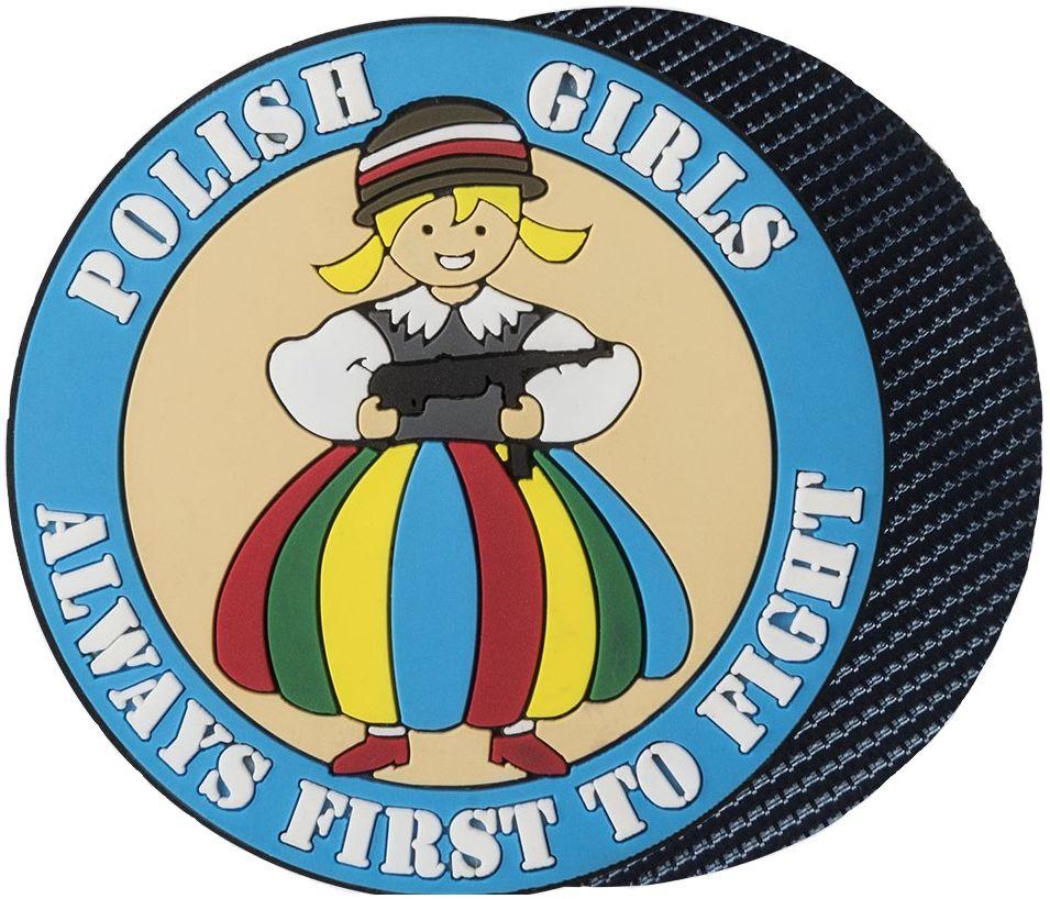 Naszywka Helikon Polish Girls PVC Blue (OD-PGF-RB-37)