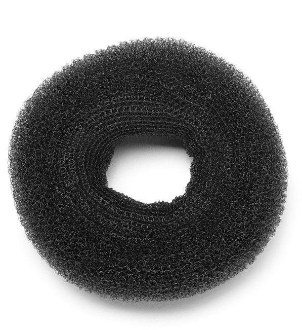 KIEPE (10211) ROUNDED CHIGNON D120 DARK BLACK duży okrągły wypełniacz do koków CZARNY