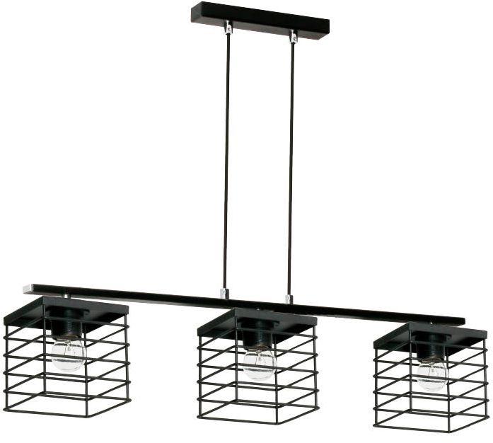 Lampex Verox 3 894/3 lampa wisząca czarna metalowy klosz E27 3x 60W 73cm