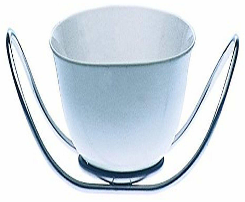 Mepra 28 x 23 cm stal nierdzewna ze względu na drobne chińskie salaterki ze stojakiem, srebrny