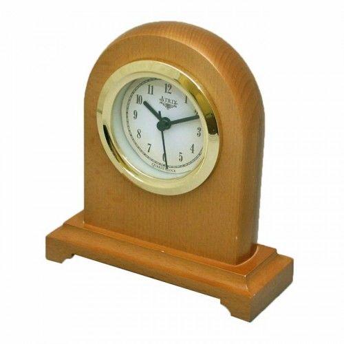 Drewniany zegar kominkowy #2