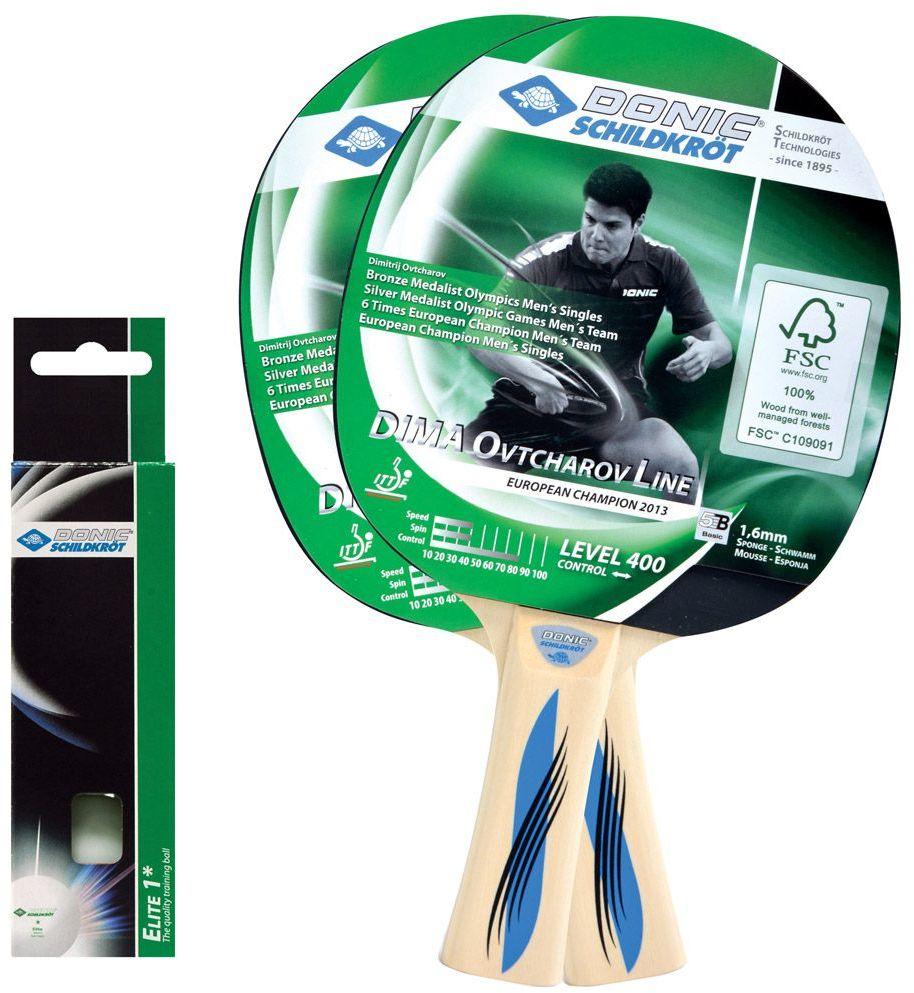 Zestaw 2 rakietek do tenisa stołowego DONIC SCHILDKROT OVTCHAROV