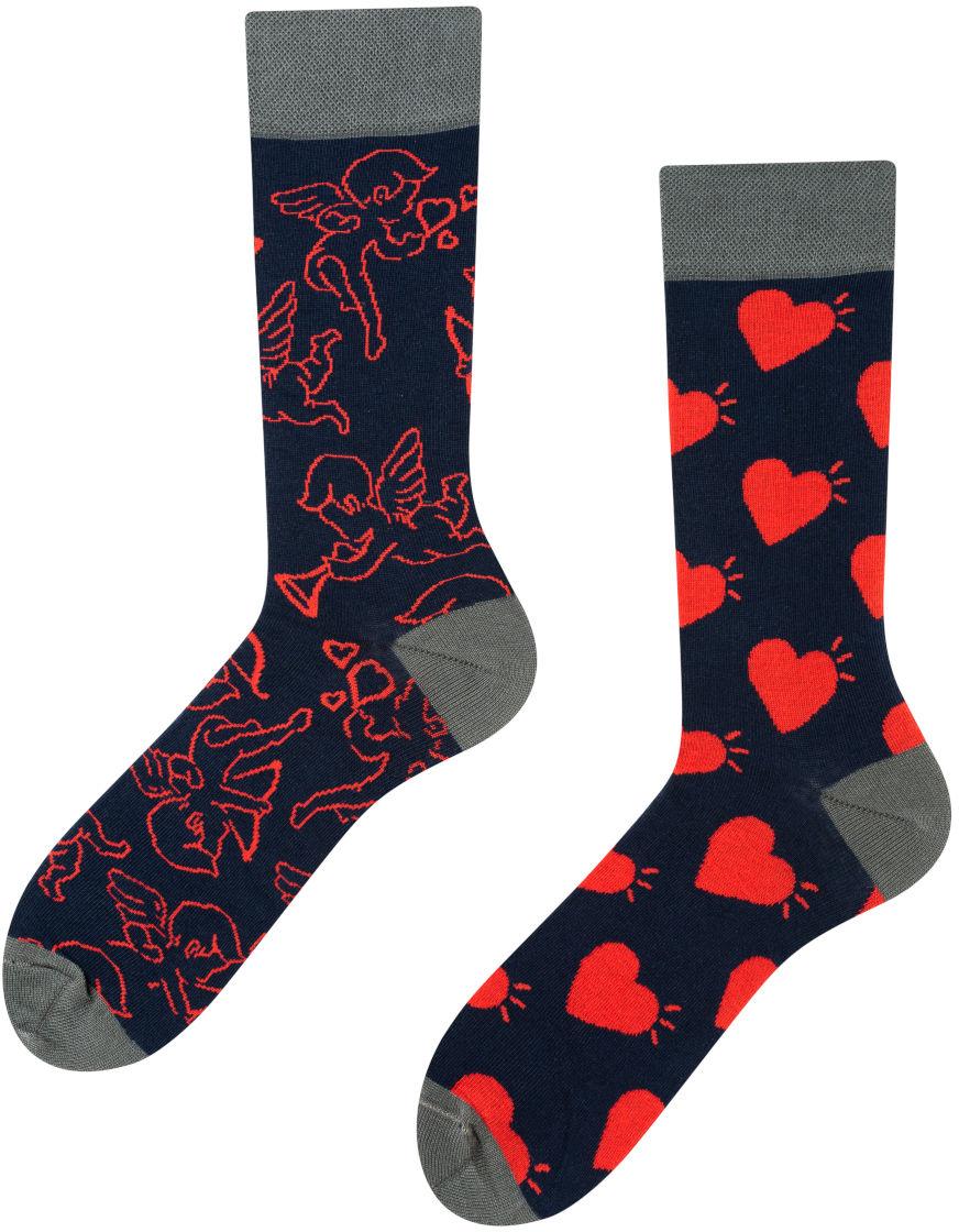 Amore Mio, Todo Socks, Anioł, Serce, Walentynki, Kolorowe Skarpety