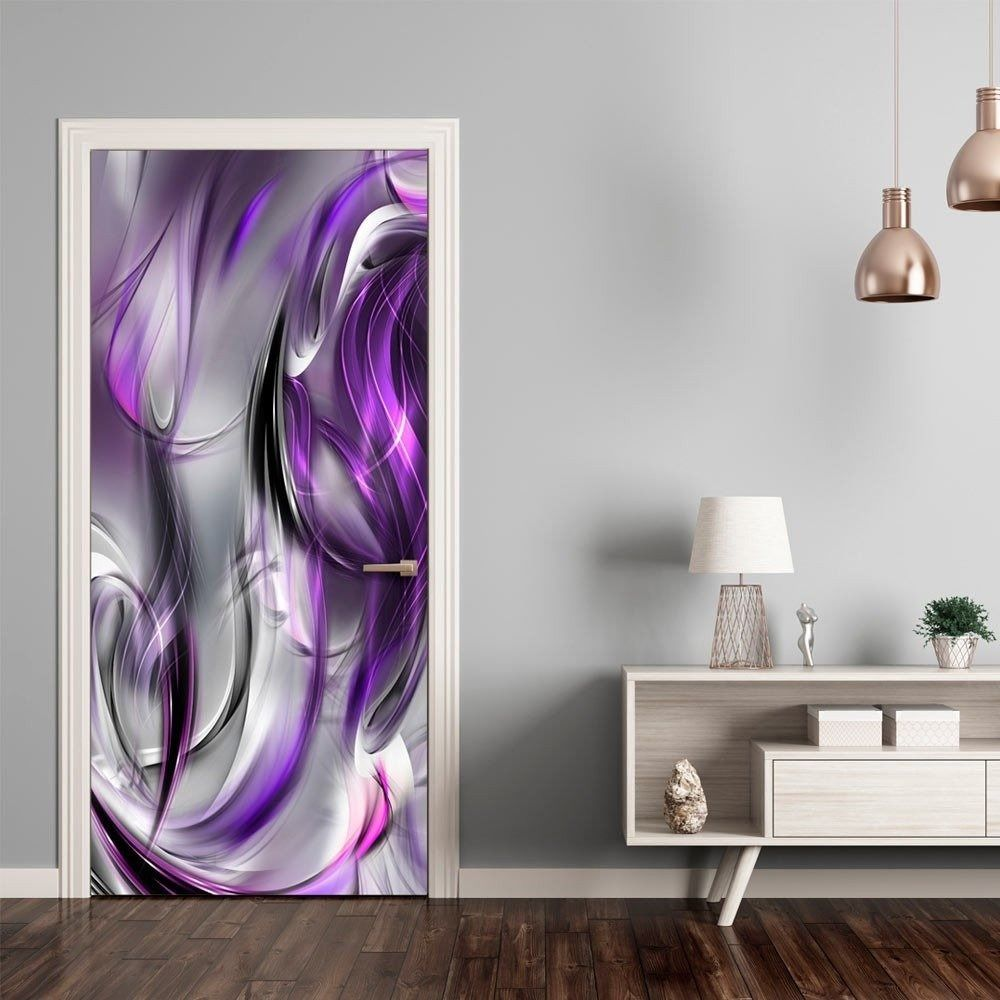 Fototapeta na drzwi - tapeta na drzwi - fioletowa abstrakcja