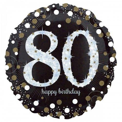 Balon na 80 urodziny złoty&srebrny Sparkling Celebration