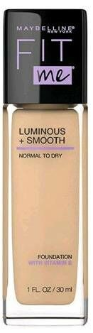 Maybelline Fit me! Luminous + Smooth Foundation Rozświetlający podkład do twarzy z SPF18 130 Buff Beige 30ml