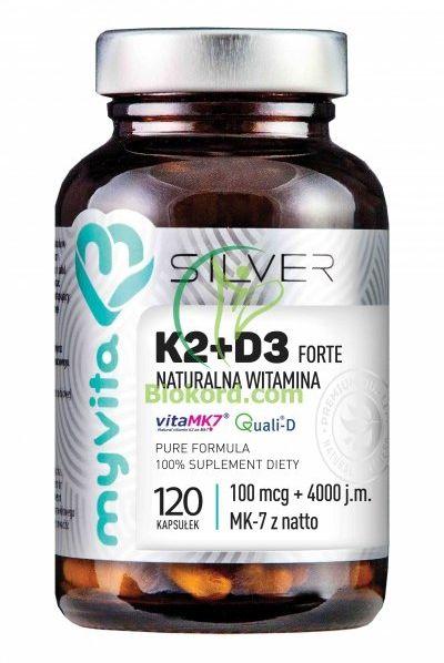 Witamina K2+D3 Forte Kapsułki MyVita SILVER PURE