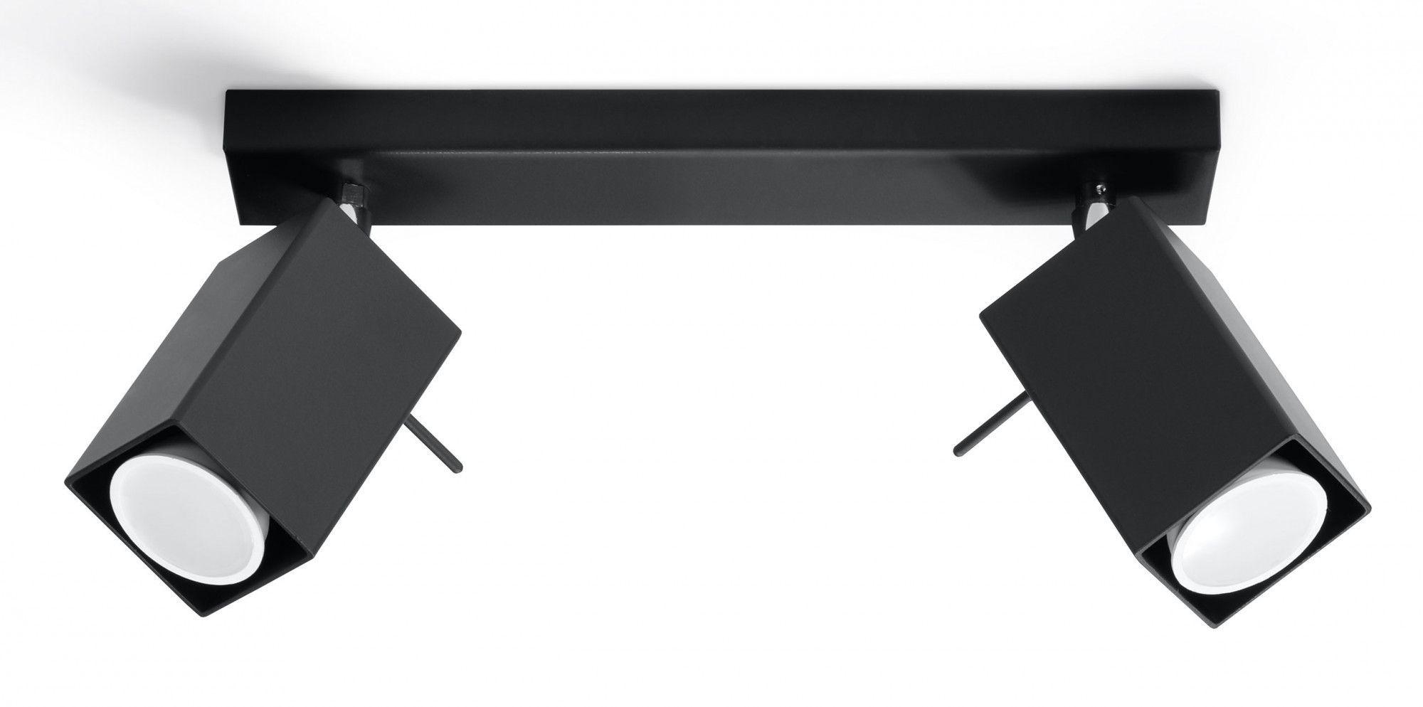 Minimalistyczny plafon LED E787-Merids - czarny