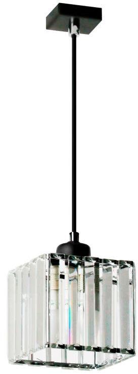 Lampex Andrea 1 911/1 lampa wisząca czarna nowoczesna metal szkło klosz przeźroczysty E27 1x 60W 12cm