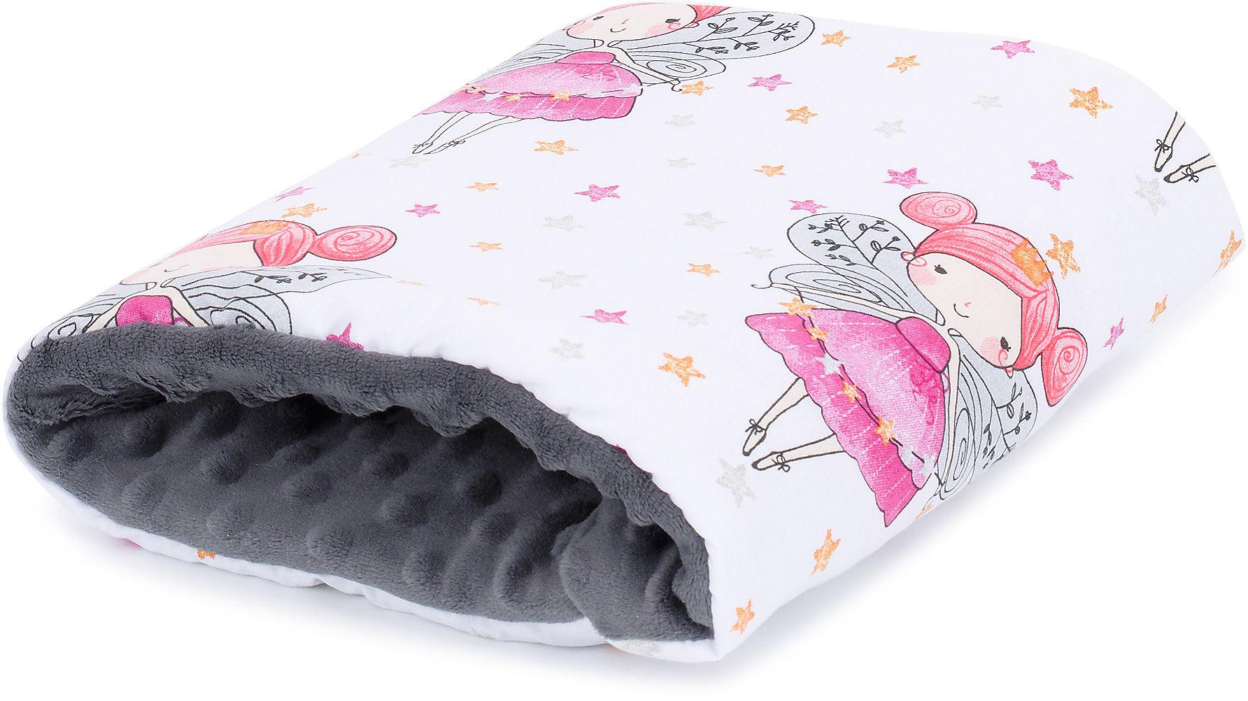 MAMO-TATO Poduszka na rękę do karmienia - Elfy różowe / szary