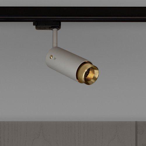 Lampa Exhaust Track Szara z mosiądzem