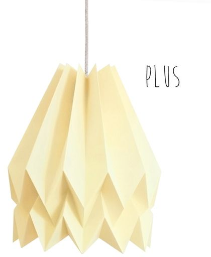 Lampa wisząca Plus Pale Yellow Orikomi żółta oprawa w dekoracyjnym stylu