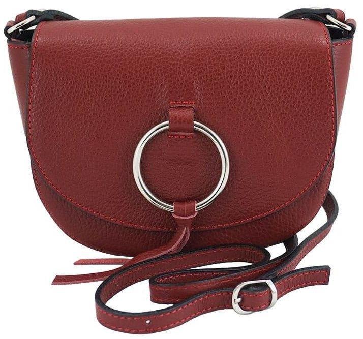 Barberini''s - torebki damskie skórzane - listonoszki - Czerwona - Czerwony
