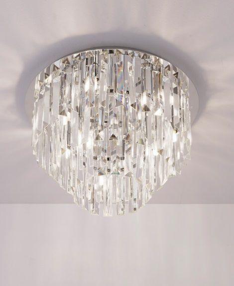 Maxlight Monaco C0136 plafon lampa sufitowa chrom klosz przezroczyste szkło 9x40W G9 42cm