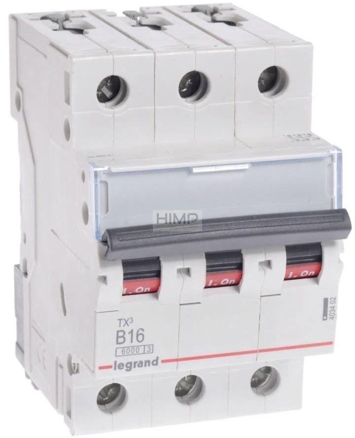 Wyłącznik nadprądowy 3P B16A 6kA AC S303 TX3 Legrand 403402