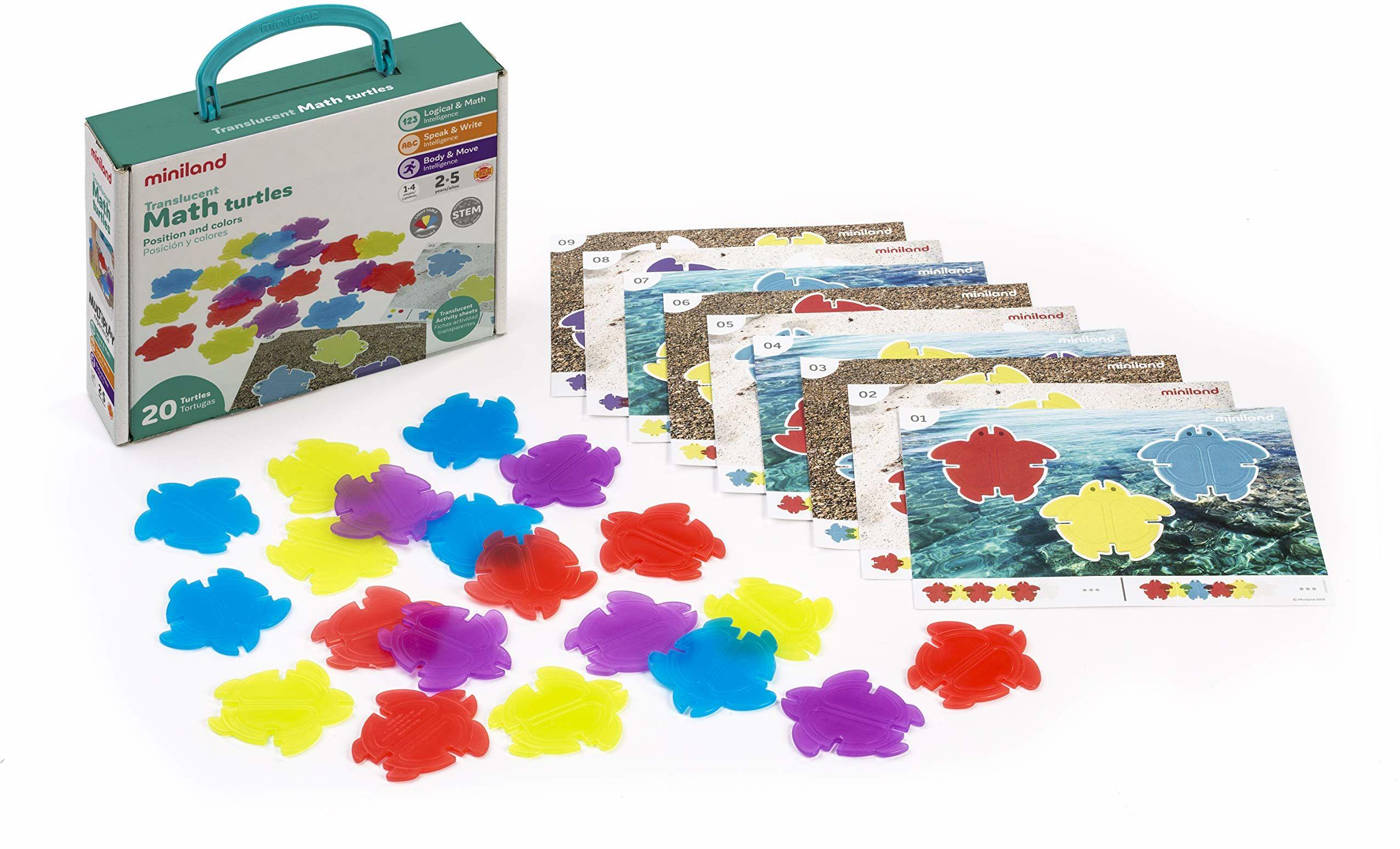 Miniland 32161 gra kolorów i kształtów, kolorowa