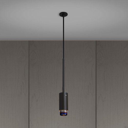 Lampa wisząca Exhaust Pendant Grafitowa z paloną stalą